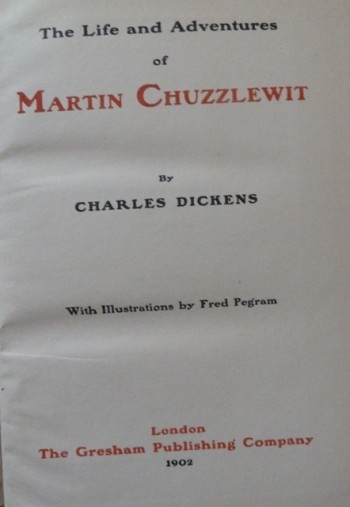 Image for The Life and Adventures of Martin Chuzzlewit (The Imperial Edition)