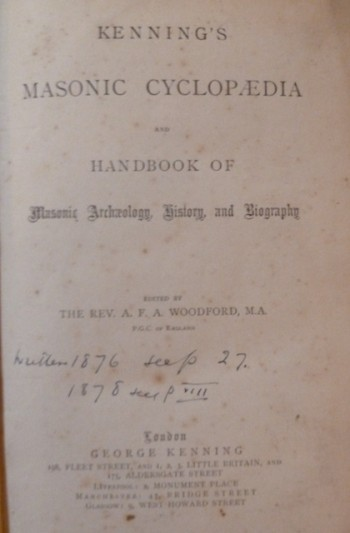 Image for Kenning's Masonic Cyclopaedia and Handbook of Masonic Archaelogy, History and Biography