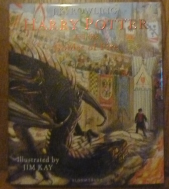 Image for Harry Potter and the Goblet of Fire: Illustrated Edition (Signed by Illustrator- First UK edition-first printing)