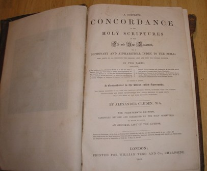 Image for A Complete Concordance to the Holy Scriptures of the Old and New Testament, or, A Dictionary and Alphabetical Index To The Bible