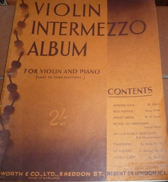 Image for Violin Intermezzo Album for Violin and Piano (First to Third Positions)