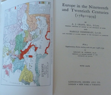 Image for Europe In The Nineteenth And Twentieth Centuries (1789 - 1939)