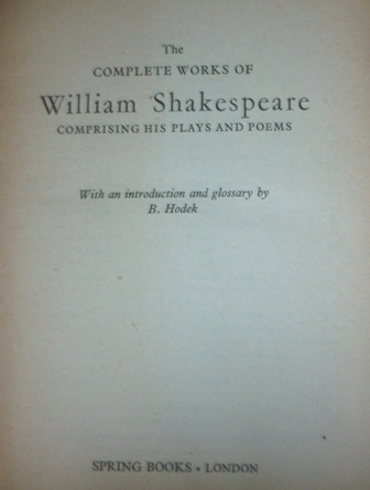 Image for The Complete Works of William Shakespeare , Comprising His Plays and Poems