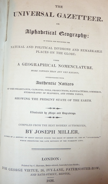Image for The Universal Gazetteer, or, Alphabetical Geography: Containing a description of the various countries, kingdoms, states, cities, towns, mountains, seas, ... political, statistical & commercial
