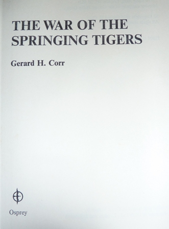Image for The War of the Springing Tigers