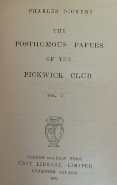 Image for The Posthumous Papers of the Pickwick Club (two volumes)