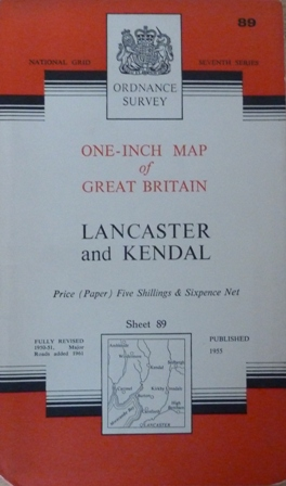 Image for Ordnance Survey One-inch Map of Great Britain. Lancaster and Kendal, Seventh Series Sheet 89