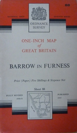 Image for Ordnance Survey Map Of Barrow In Furness : Sheet 88