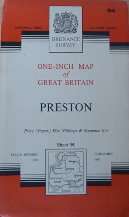 Image for Ordnance Survey One-Inch Map Of Great Britain, Preston Sheet No.94