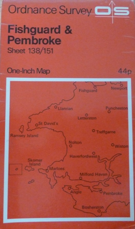 Image for Ordnance Survey One-Inch Map of Fishguard And Pembroke, sheet-138/151