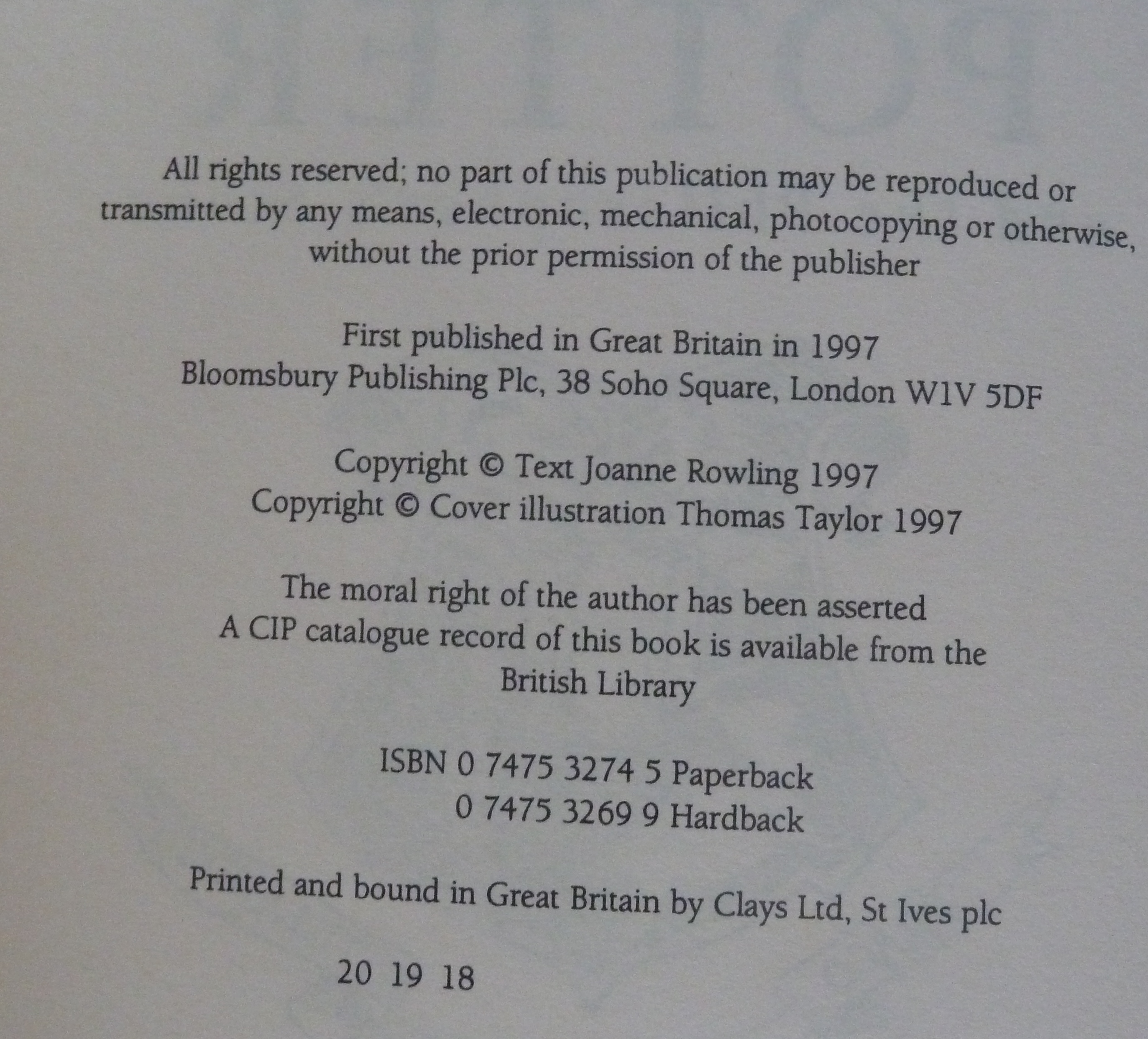 Image for Harry Potter and the Philosopher's Stone (Book 1)