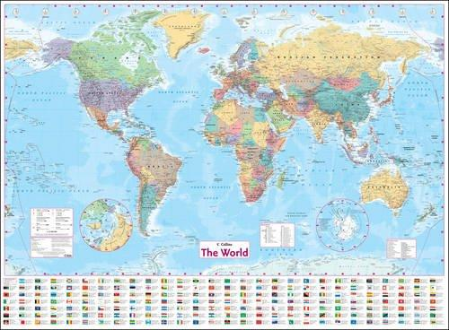 Image for Collins World Wall Laminated Map (Wall Map)