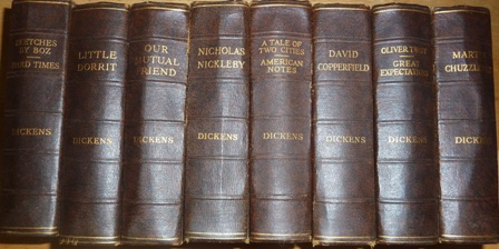 Image for The Works of Charles Dickens - 8 volumes set -including(Nicholas Nickleby-Our Mutual Friend-Little Dorrit-A Tale of Two City-American Notes)