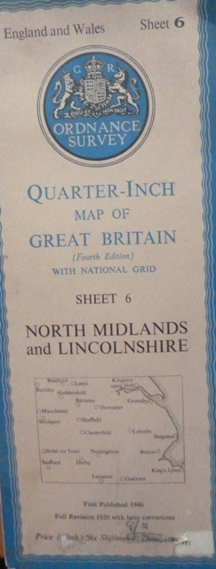 Image for Quarter Inch Map Of Great Britain Sheet 6: North Midlands And Lincolnshire