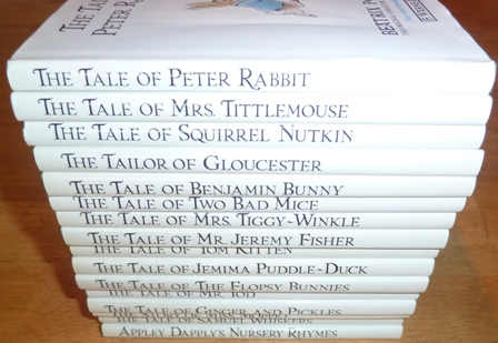 Image for The World of Beatrix Potter - The Original and Authorized Editions (16 Books set) including: The Tale of Peter Rabbit, The Story of Miss Moppet,  The Tale of Ginger and Pickles, The Tale of Samual Whiskers, Appley Dapply's Nursary Rhymes