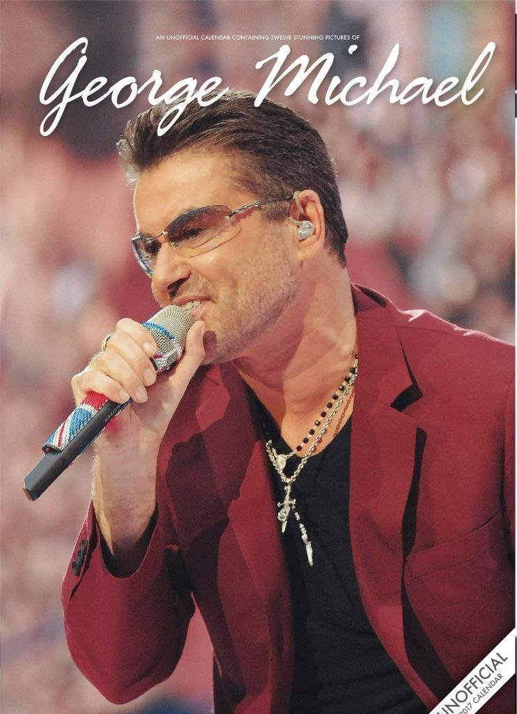 Image for George Michael Unofficial A3 Wall Calendar 2017 Plus George Michael Fridge Magnet