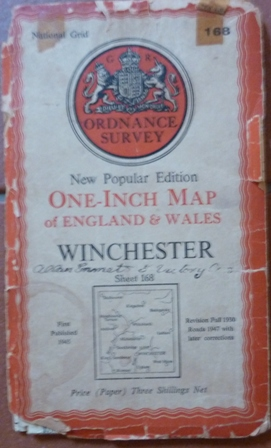 Image for Ordnance Survey Map : Winchester Sheet 168 New Popular Edition One Inch Map Of England & Wales (1945)